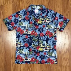 Disney Mickey Mouse  Aloha Blue Shirt. Youth L